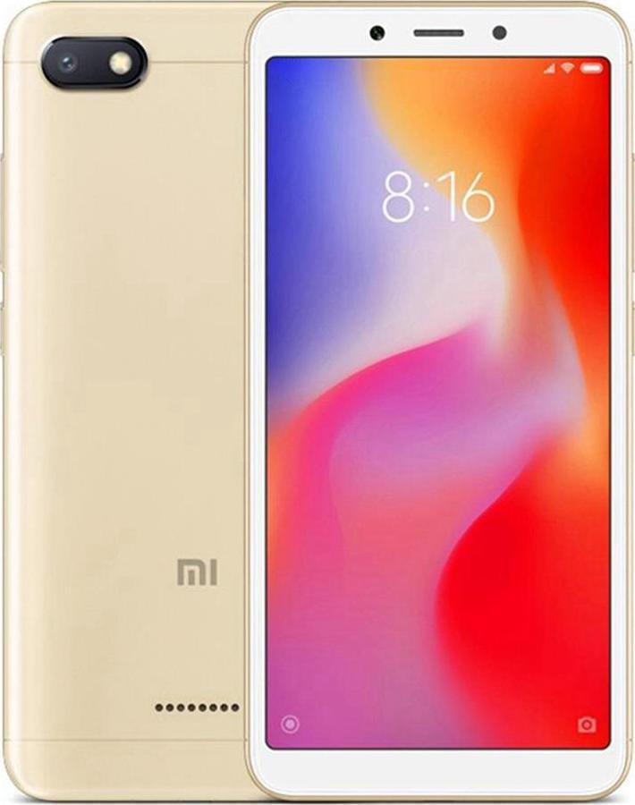 Xiaomi Redmi 6A 16GB 2GB Ram Dual Gold (Ελληνικό Μενού - Global Version) (Δώρο Tempered Glass + Θήκη) Πληρωμή έως 24 δόσεις