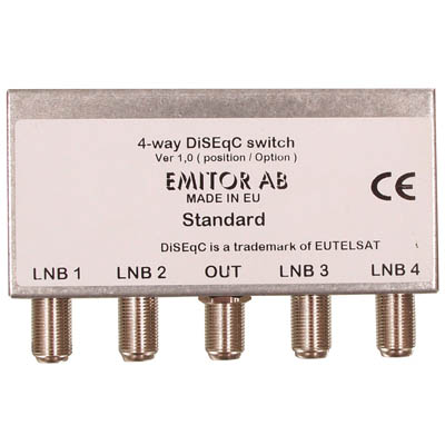 EM-SWITCH6 4WAY DISEQC SWITCH