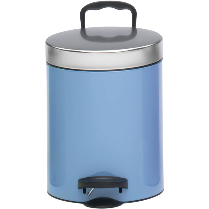 MELICONI 140055 AZZURRO LIGHT BLUE 5LT PEDAL BIN NEW LINE