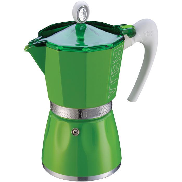 GAT 103803 GREEN BELLA 3 CUPS COFFEE-MAKER