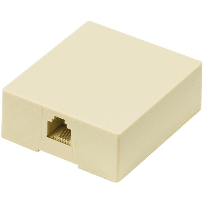 VLTP 90822I Telecom wall box RJ11 female ivory