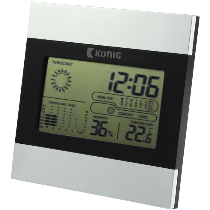 KN-WS 102N LCD CLOCK WITH WEATHER STATION