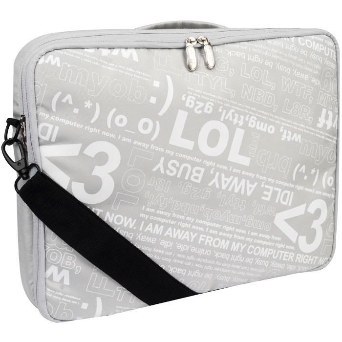 "GNCR-715S2 (SILVER) 15"" MESSENGER BAG"