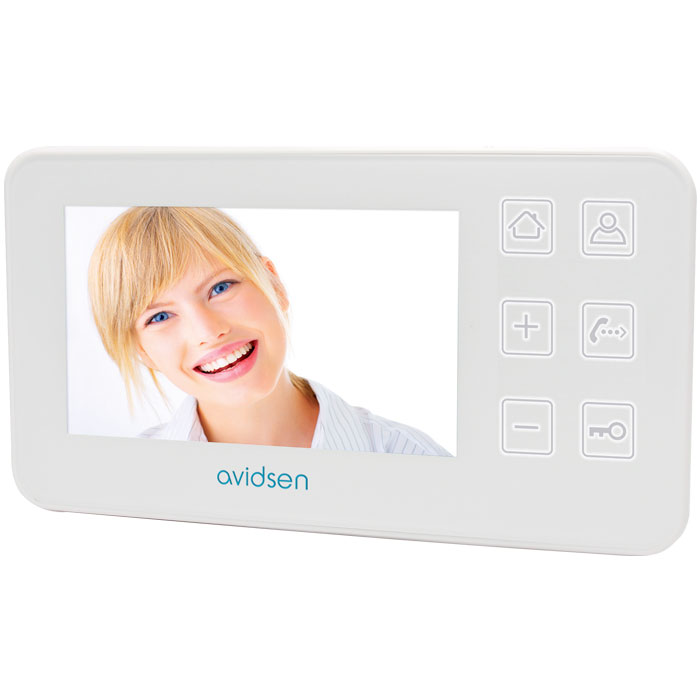 AVIDSEN 122130 NORDSTROM2 MONITOR 4,3 WHITE (4 WIRES CONNECTION)