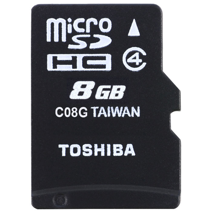 TOS MICROSD 8GB M102 CLASS 4 WITH ADAPTER