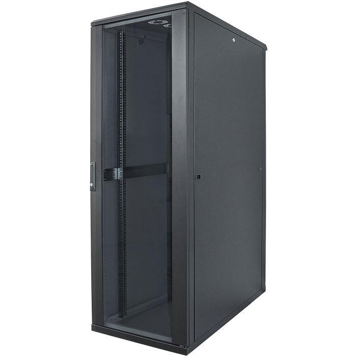 """INT 713122 ASSEMBLED 19"""" 32U (1653x600x800) NETWORK RACK BLACK"""