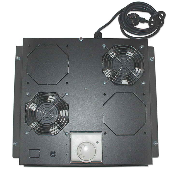 INT 712859 VENTILATION UNIT WITH THERMOSTAT, 2 FANS, ROOFMOUNT,BLACK