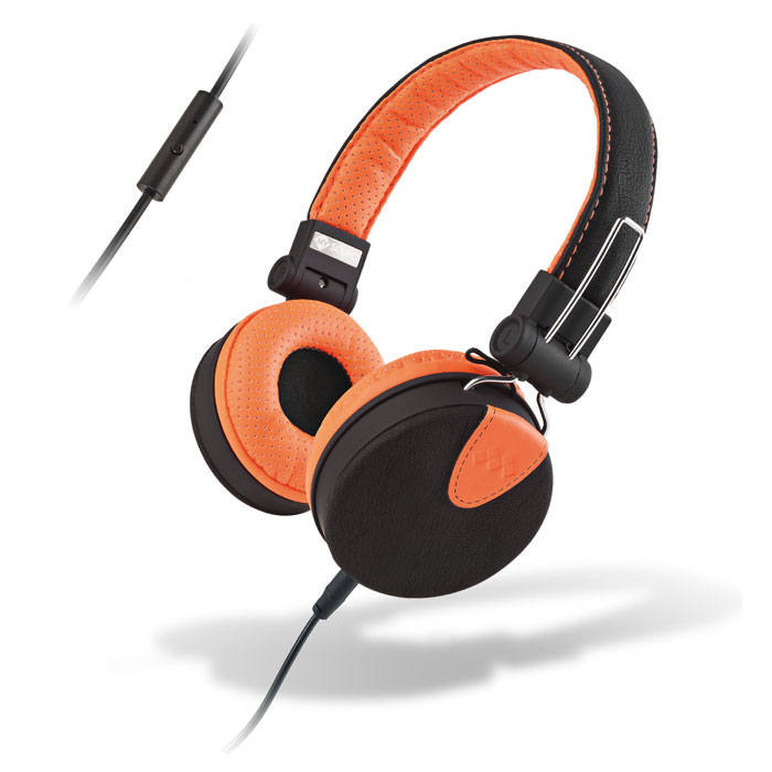 MELICONI 497429 MYSOUND SPEAK STYLE BLACK/ORANGE ON-EAR STEREO HEADPHONE (WITH M