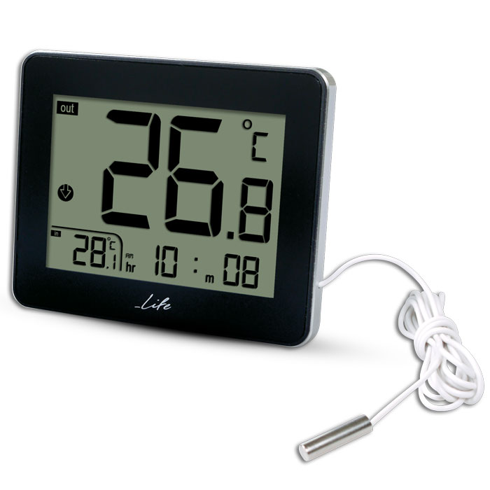 LIFE WES-201 Indoor/outdoor thermometer,Black