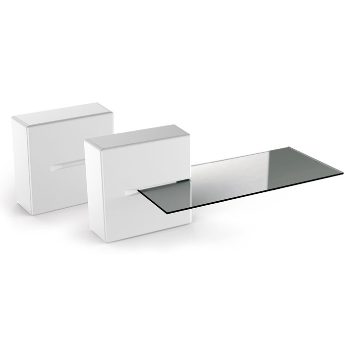 MELICONI 480522 GHOST CUBE SHELF WHITE