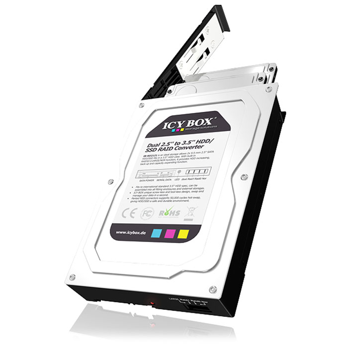 "ICY BOX IB-RD2121StS 2x 2.5"" SATA HDD/SSD RAID Converter"