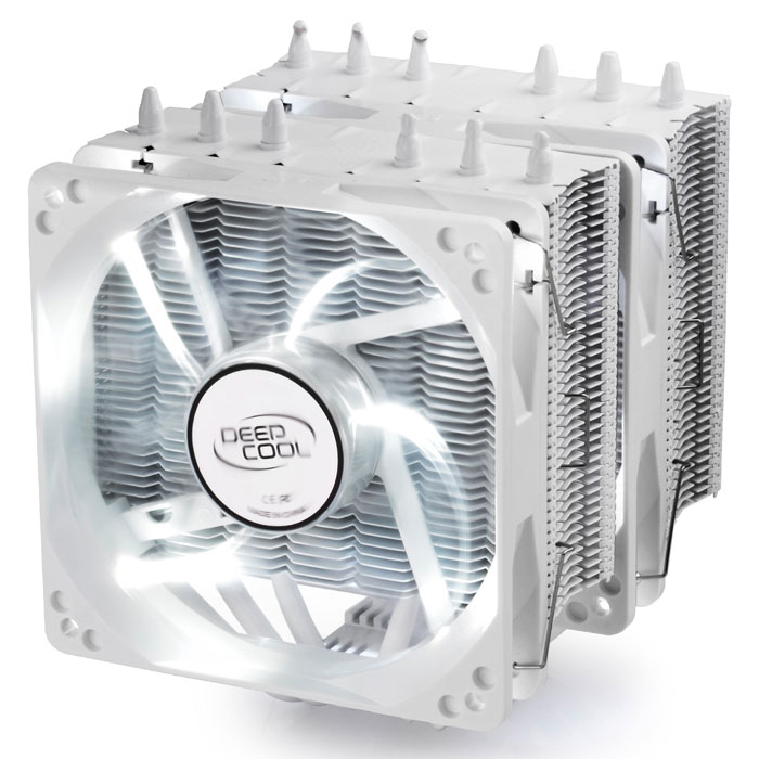 DEEPCOOL NEPTWIN WHITE CPU COOLER - UNIVERSAL (INTEL & AMD)