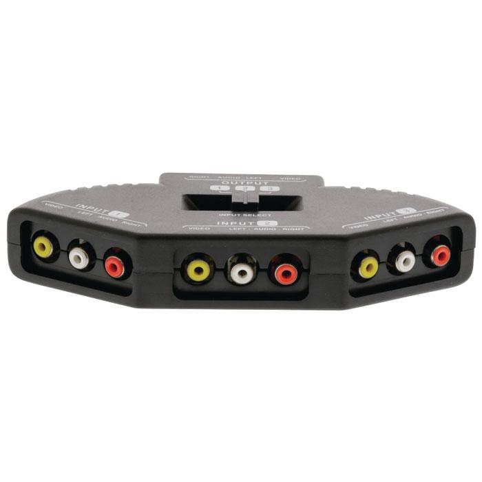 VLVSW 2403 Composite Switch 3x (3xRCA Female) - 3x RCA Female Black