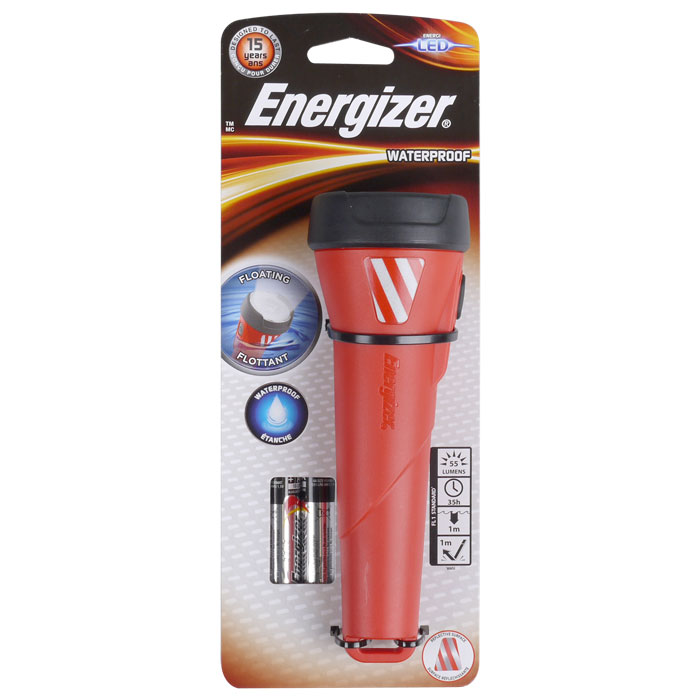 ENERGIZER WATERPROOF RED 2xAA LIGHT F081101
