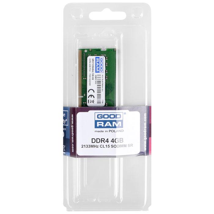 GRAM DDR4 4GB 2133MHz CL15 SR SODIMM (PC4-17000) / GR2133S464L15S/4G