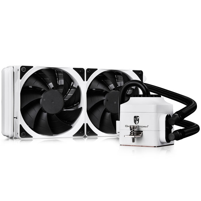 DEEPCOOL CAPTAIN 240 EX WHITE WATER CPU COOLER - UNIVERSAL (INTEL & AMD)