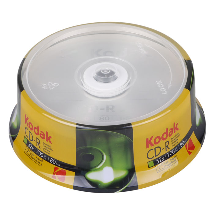 KODAK CD-R 25-Pack 52x 700MB