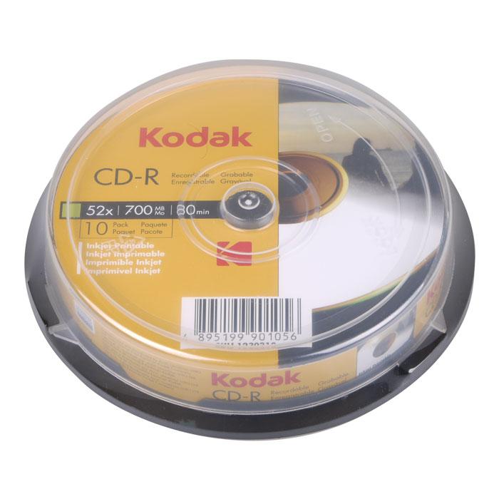 KODAK CD-R Printable 52x 700MB 10-Pack