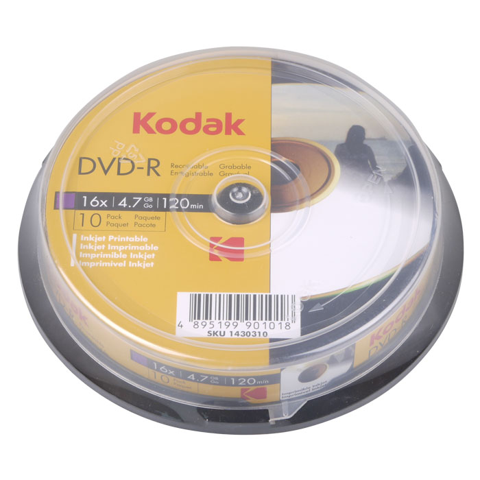 KODAK DVD-R Printable 10-Pack 16x 4.7GB