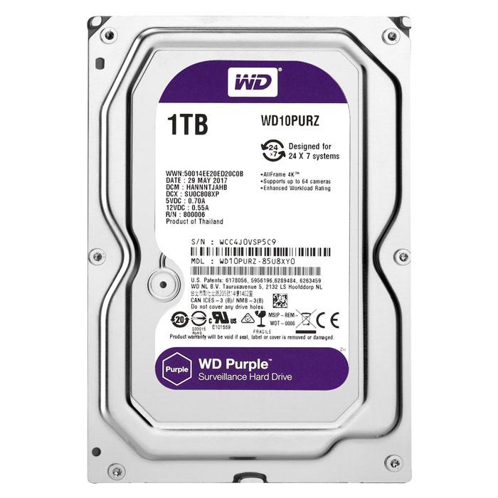 """WD PURPLE 1TB 3.5"""" - WD10PURZ INTERNAL HDD"""
