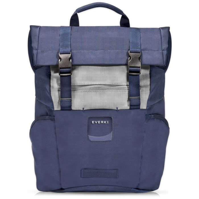 EVERKI CONTEMPRO 72588 NAVY ROLLTOP LAPTOP BACKPACK UP TO 15.6""