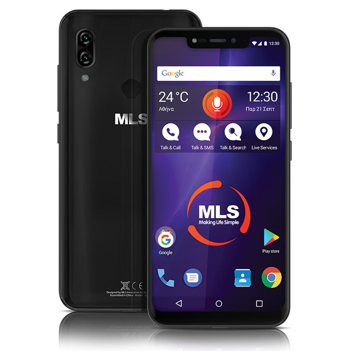 MLS MX NOTCH 4G BLACK DUAL SIM
