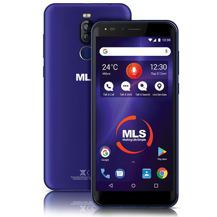 """MLS DX LITE  5.7"""" 3G BLUE DUAL SIM"""