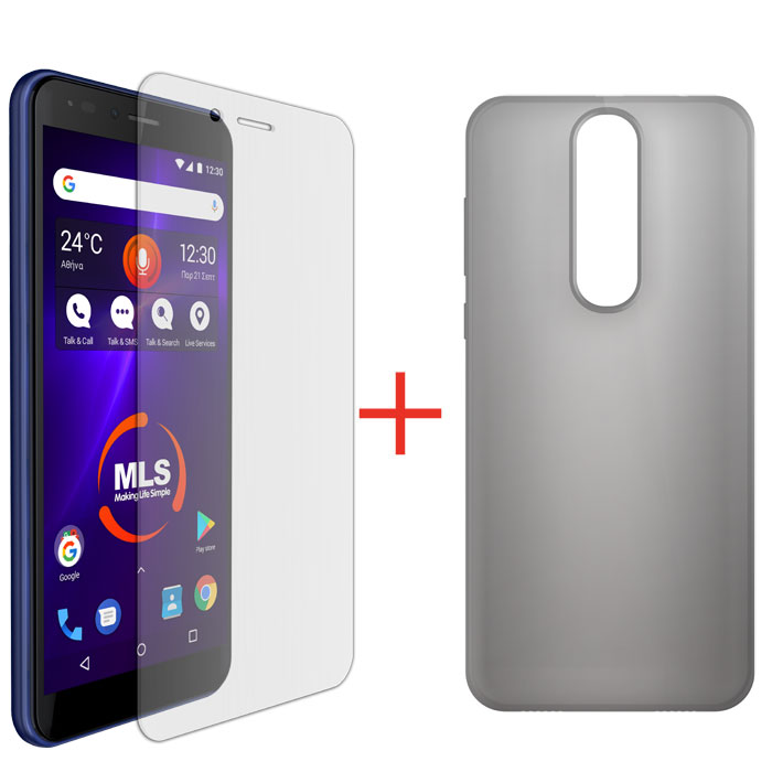 MLS TPU CASE+PROTECTIVE FILM FOR DX LITE