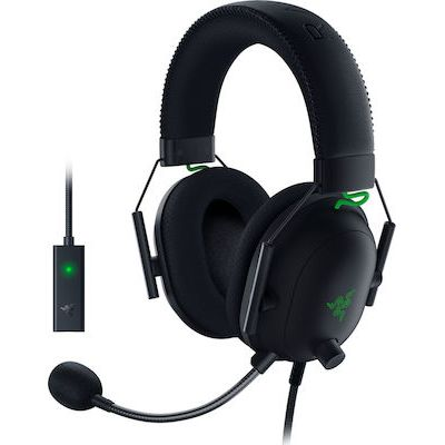 RAZER BLACKSHARK V2 GAMING HEADSET & USB AUDIO CARD – 7.1 THX – PC/PS4/PS5-RZ04-03230100-R3M1