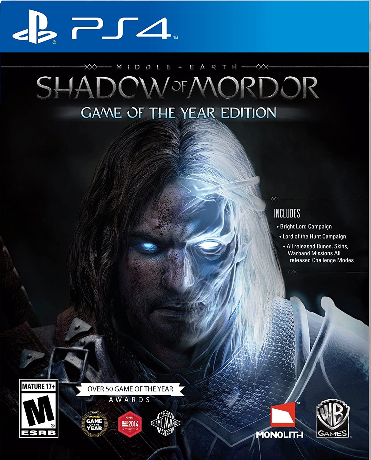 MIDDLE EARTH: SHADOW OF MORDOR GAME OF THE YEAR PS4 - Warner 1.12.74.01.018