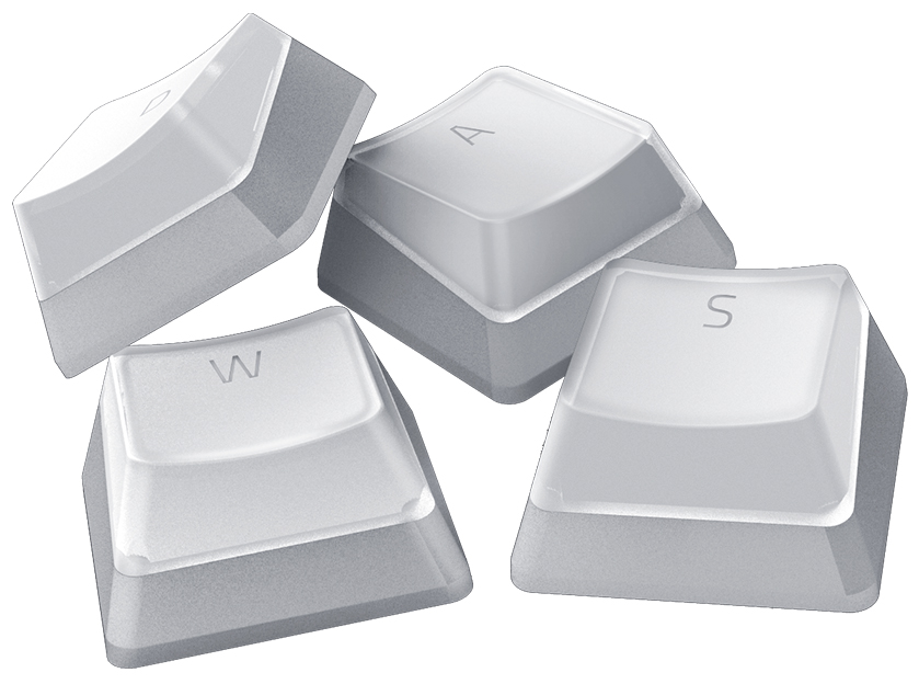 Razer PHANTOM PUDDING WHITE Keycaps Upgrade Set - Razer 1.28.80.11.100