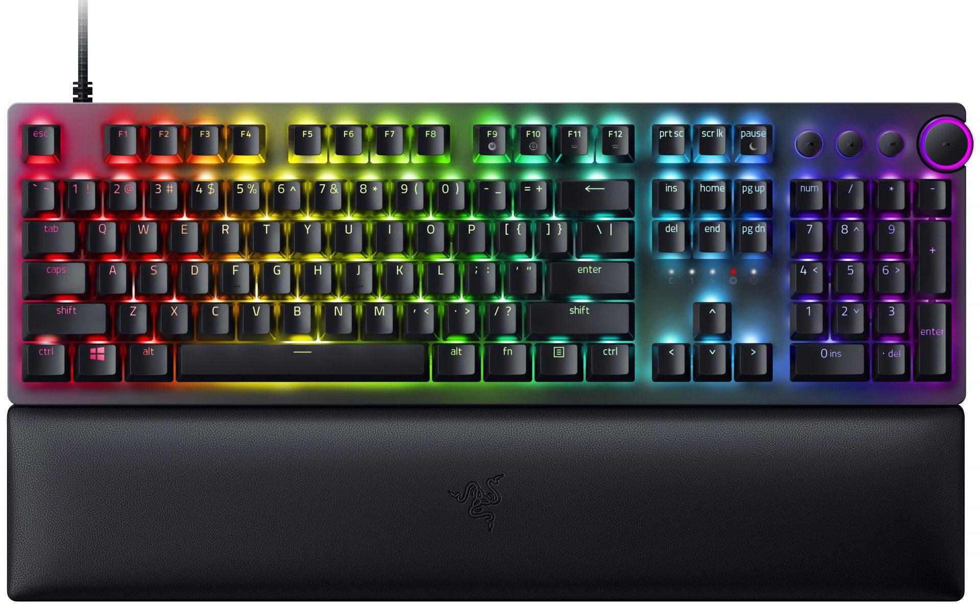 Razer HUNTSMAN V2 - RGB Optical Gaming Keyboard (Clicky Purple Switch) - US Layout - Razer 1.28.80.11.111