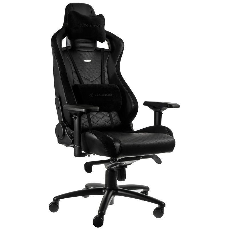 noblechairs EPIC Gaming Chair Breathable, 4D armrests, 60mm casters - black - CASEKING 2.35.63.01.001