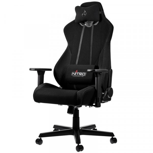 Nitro Concepts S300 Gaming Chair - Quality Fabric & Cold Foam - Stealth Black - CASEKING 2.35.63.02.015