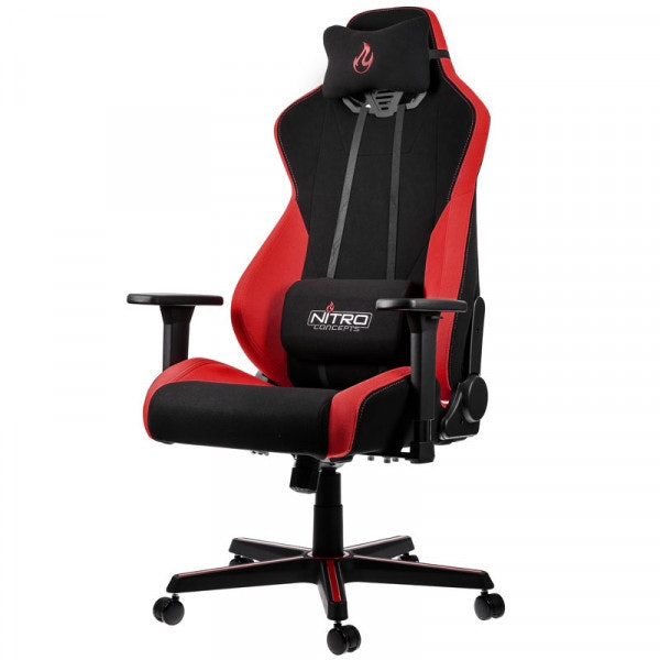 Nitro Concepts S300 Gaming Chair - Quality Fabric & Cold Foam - Inferno Red - CASEKING 2.35.63.02.016