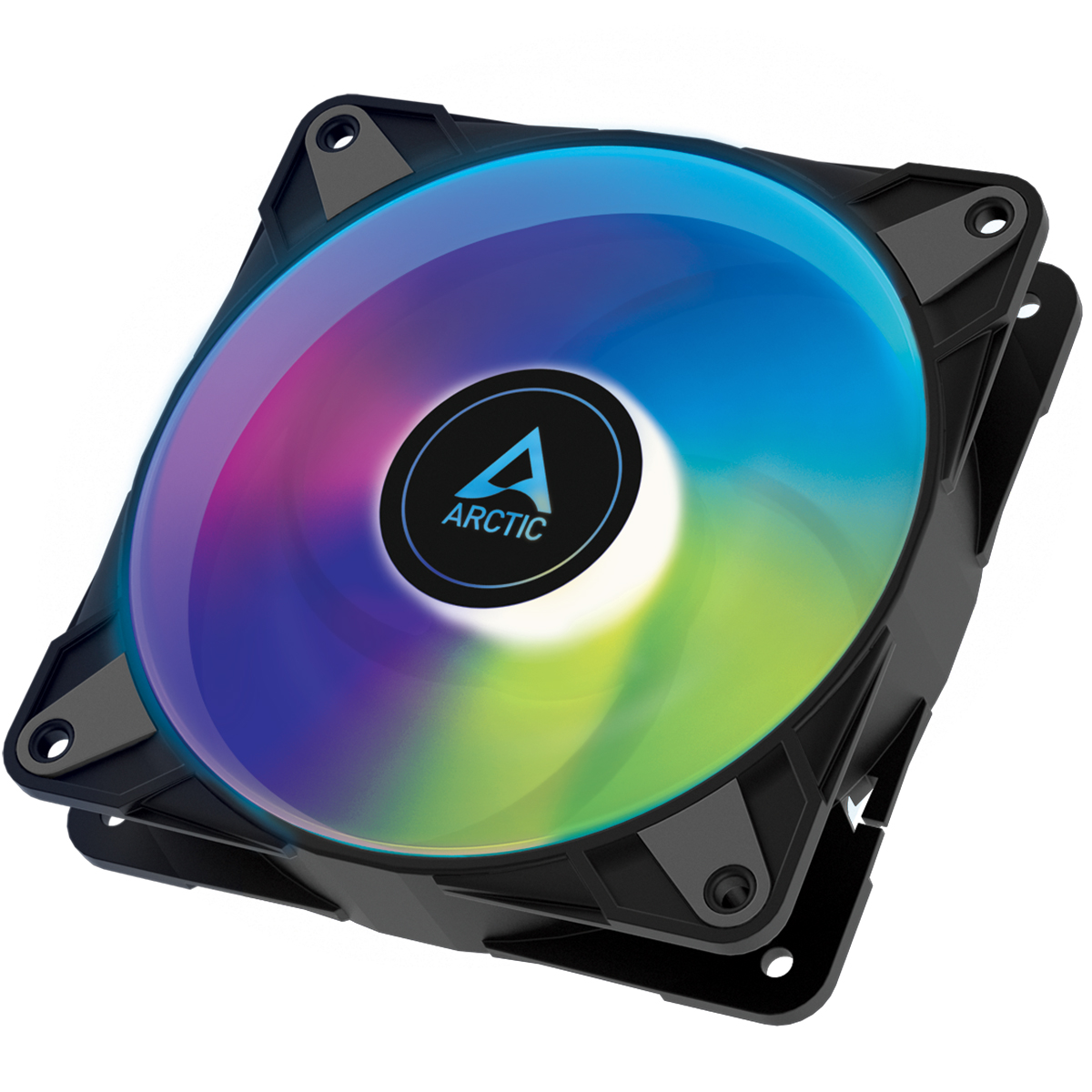 Arctic P12 PWM PST A-RGB 0dB – 120mm Pressure optimized case fan | PWM controlled speed with PST | A - Arctic 2.35.64.00.067