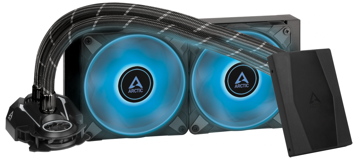 Arctic Liquid Freezer II - 240 RGB Black : All-in-One CPU Water Cooler with 240mm radiator and 2x P1 - Arctic 2.35.64.03.006