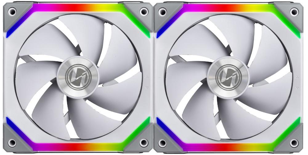 Lian Li UNI Fan SL 140 Double White Case Fan Pack - aRGB PWM 140mm 1500RPM (2pcs) with controller - LIAN LI 2.35.65.01.014