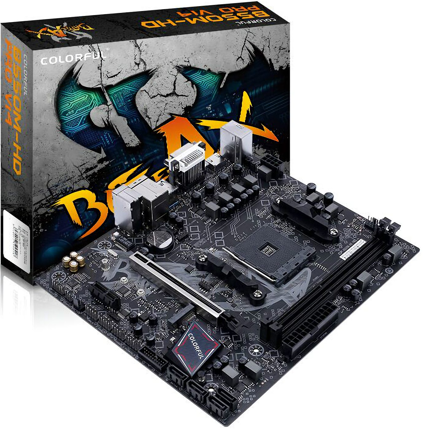 Colorful B550M-HD PRO BATTLE-AX V14 - DDR4 AMD RYZEN AM4 Socket Motherboard - COLORFUL 2.35.66.00.004