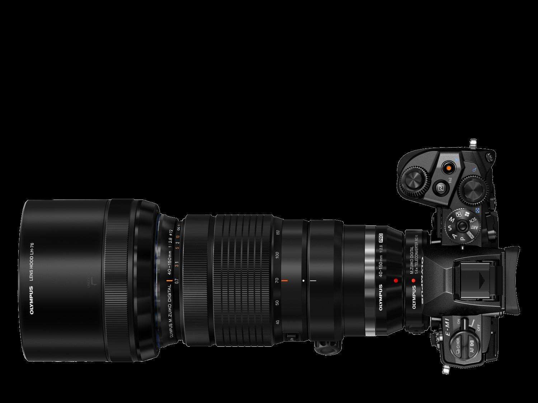 Olympus 40-150mm 1:2.8 PRO BLACK MZ DIGITAL (EZ-M4015PRO) Lense + Teleconverter V315051BW000 - Olympus 9.02.09.09.043