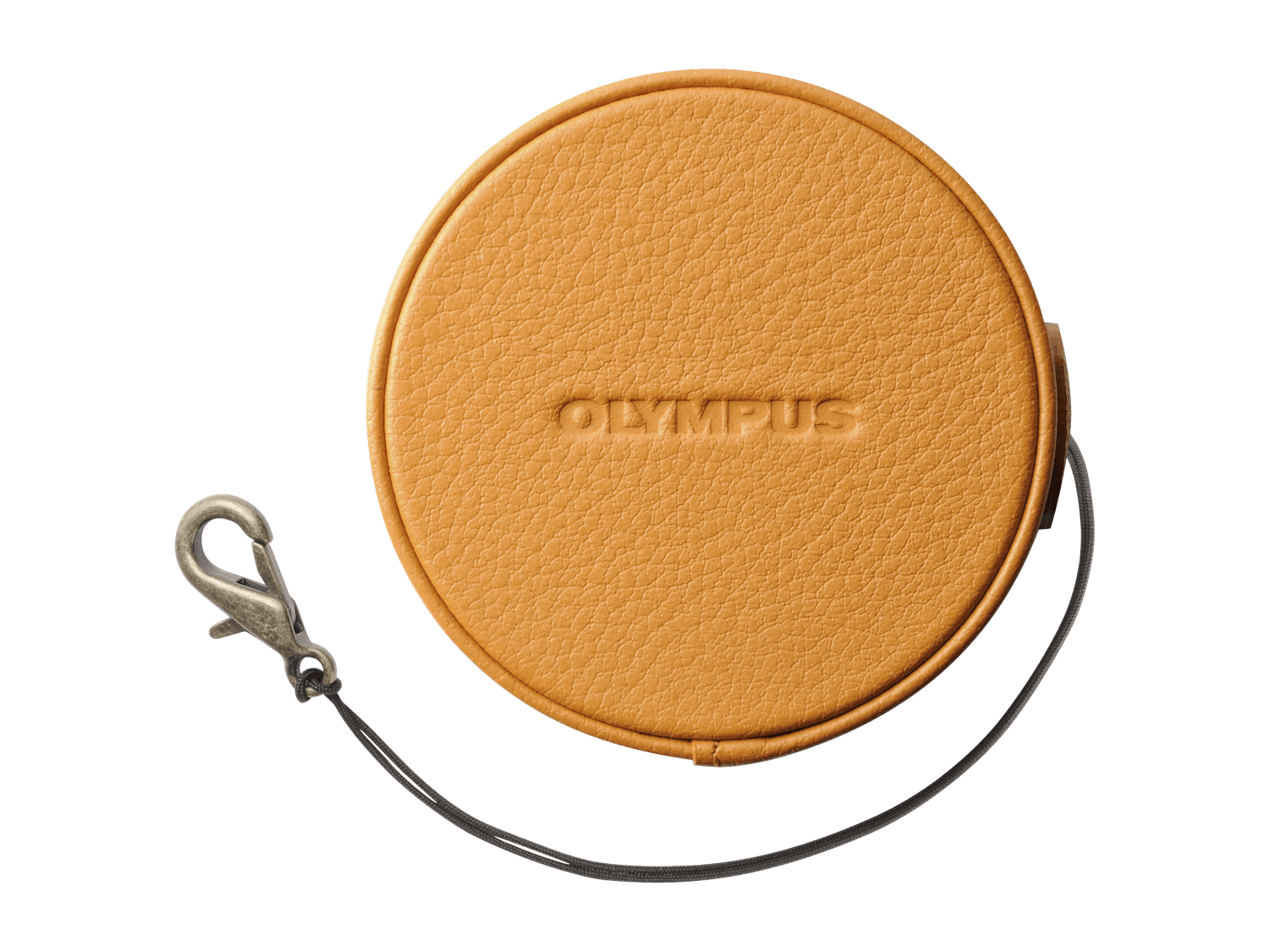 Olympus LC-60.5GL LBR Genuine Leather Lens Cover (60.5 mm) - light brown - Olympus 9.03.04.12.127