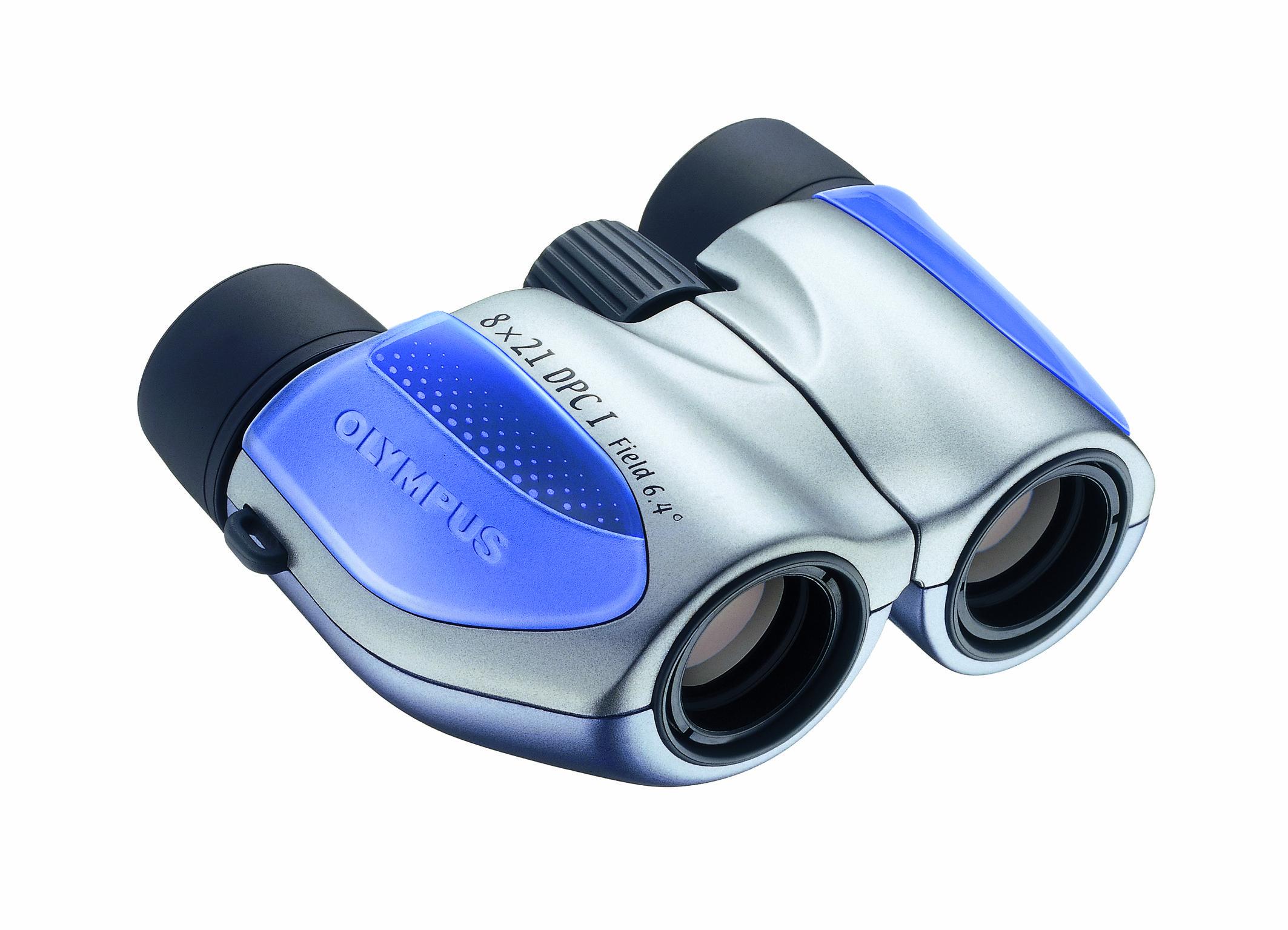 Olympus 8x21 DPC I  Steel-Blue Binoculars - Olympus 9.06.01.01.076